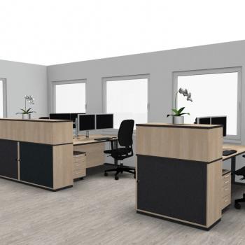 Büro Empfang Ansicht II, 08.07.2020